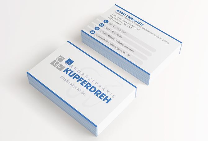 Visitenkarten-Zahnarztpraxis-Kupferdreh